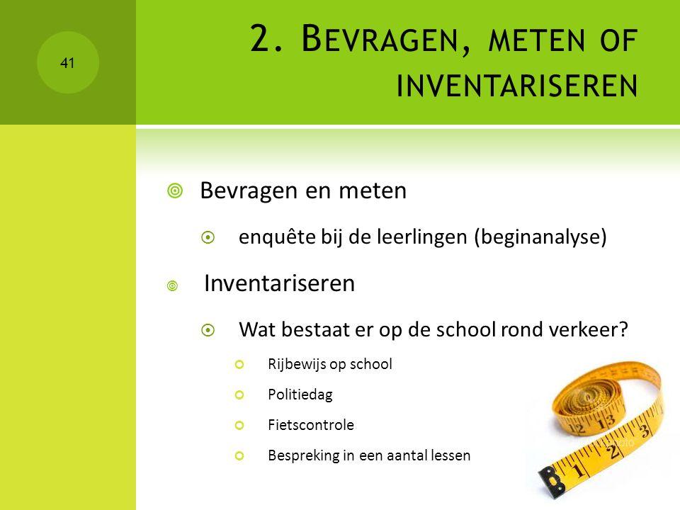 2. Bevragen, meten of inventariseren
