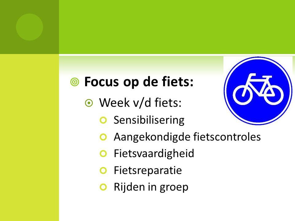 Focus op de fiets: Week v/d fiets: Sensibilisering