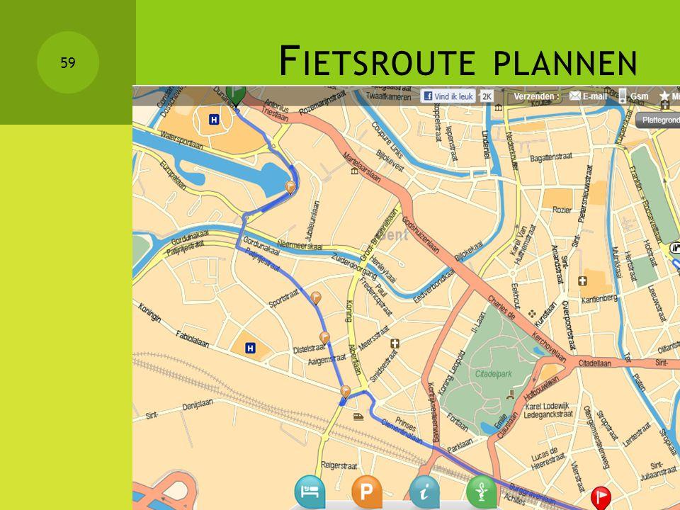 Fietsroute plannen
