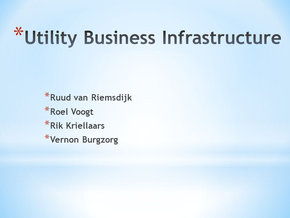 Utility Business Infrastructure