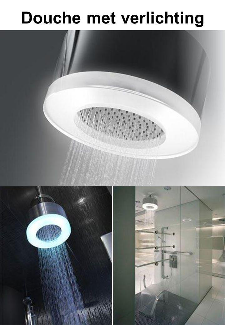 Douche met verlichting