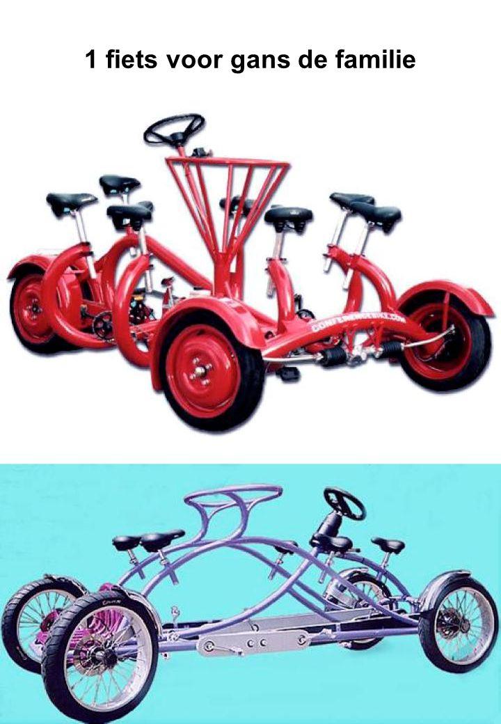 1 fiets voor gans de familie