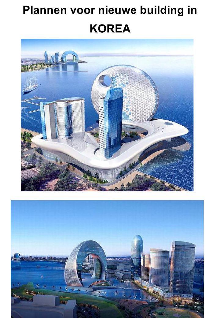 Plannen voor nieuwe building in KOREA