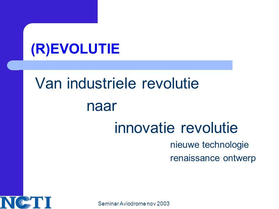 Van industriele revolutie naar innovatie revolutie