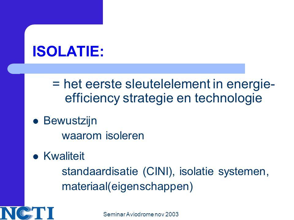ISOLATIE: = het eerste sleutelelement in energie-efficiency strategie en technologie. Bewustzijn. waarom isoleren.