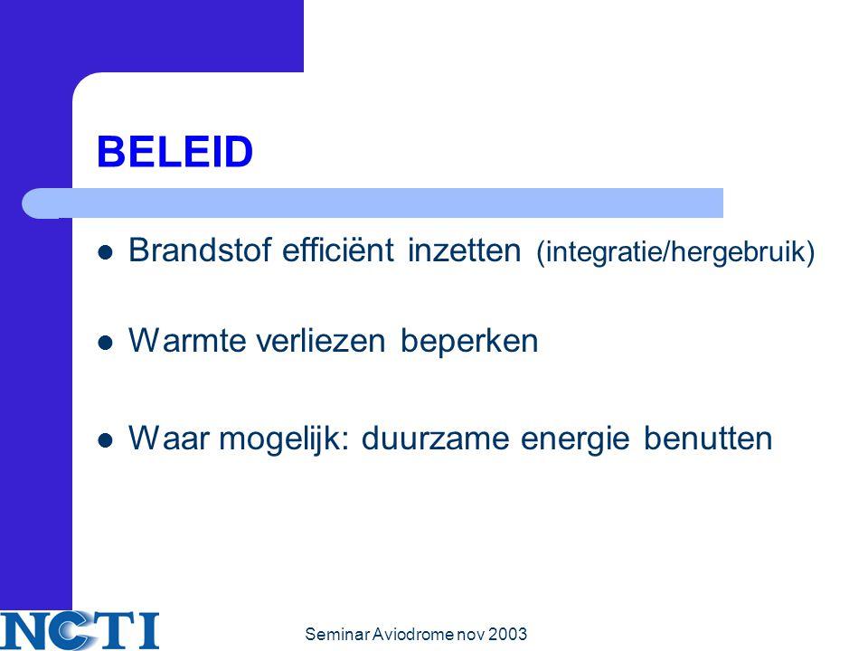 BELEID Brandstof efficiënt inzetten (integratie/hergebruik)