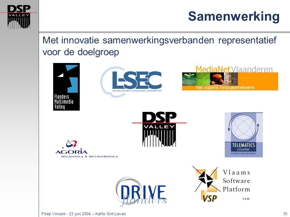 Samenwerking Met innovatie samenwerkingsverbanden representatief voor de doelgroep