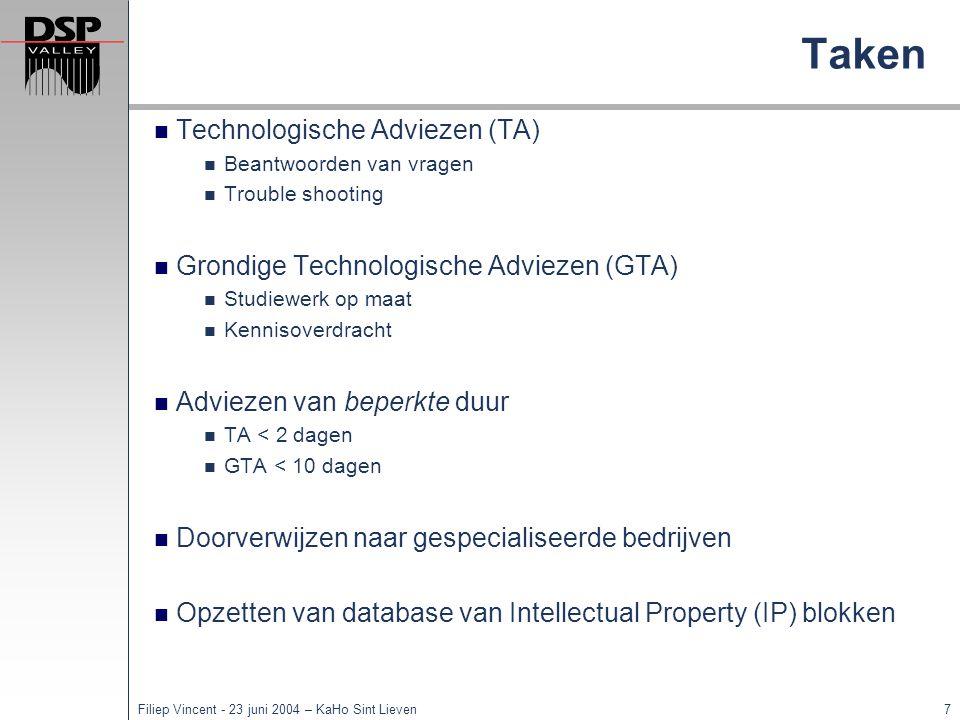 Taken Technologische Adviezen (TA)
