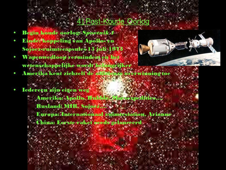 4) Post-Koude Oorlog Begin koude oorlog: Spoetnik 1