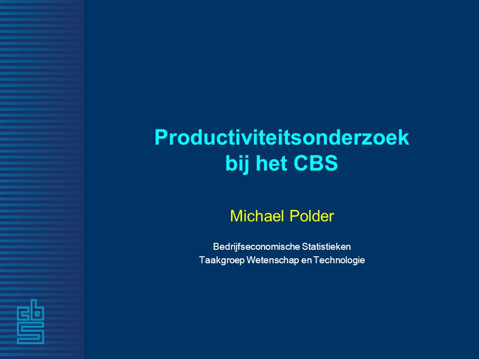 Productiviteitsonderzoek bij het CBS
