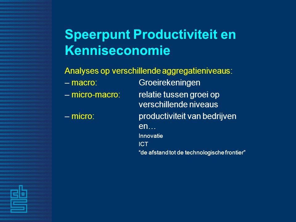 Speerpunt Productiviteit en Kenniseconomie