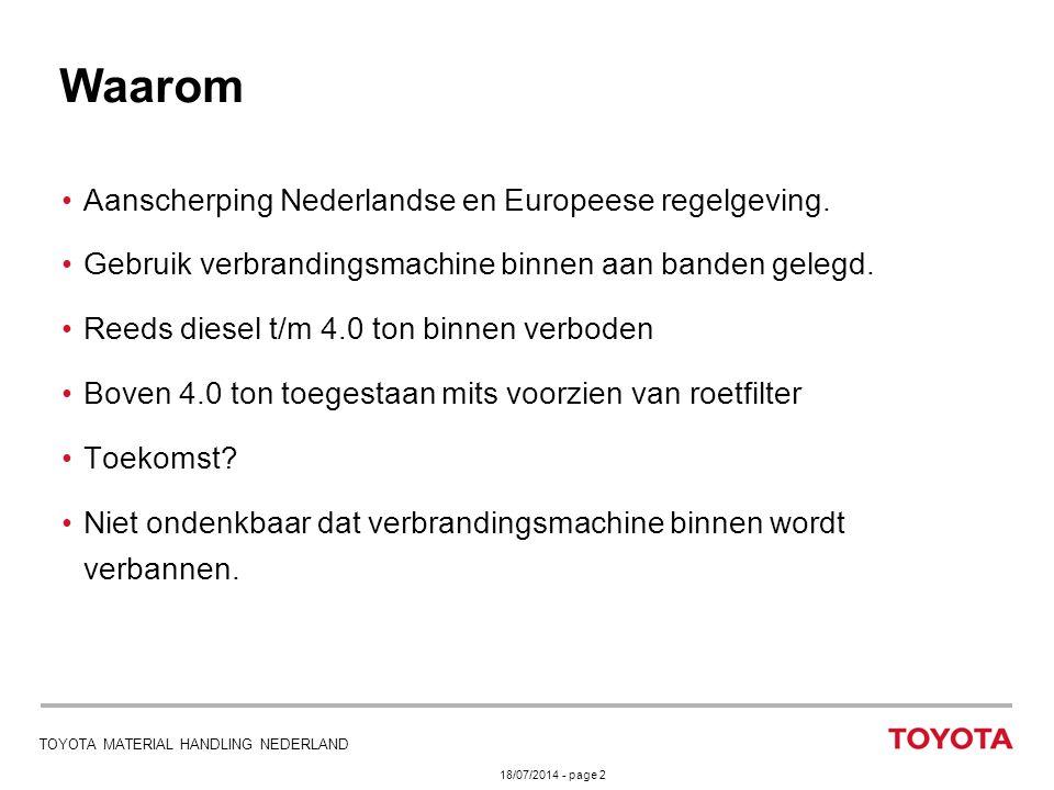 Waarom Aanscherping Nederlandse en Europeese regelgeving.
