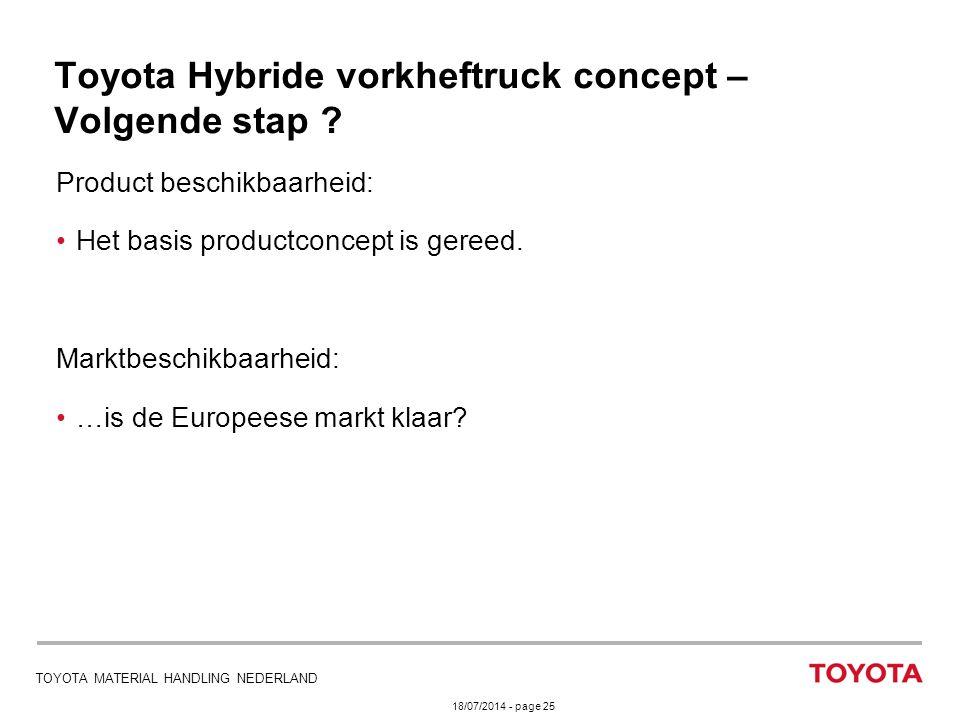 Toyota Hybride vorkheftruck concept – Volgende stap