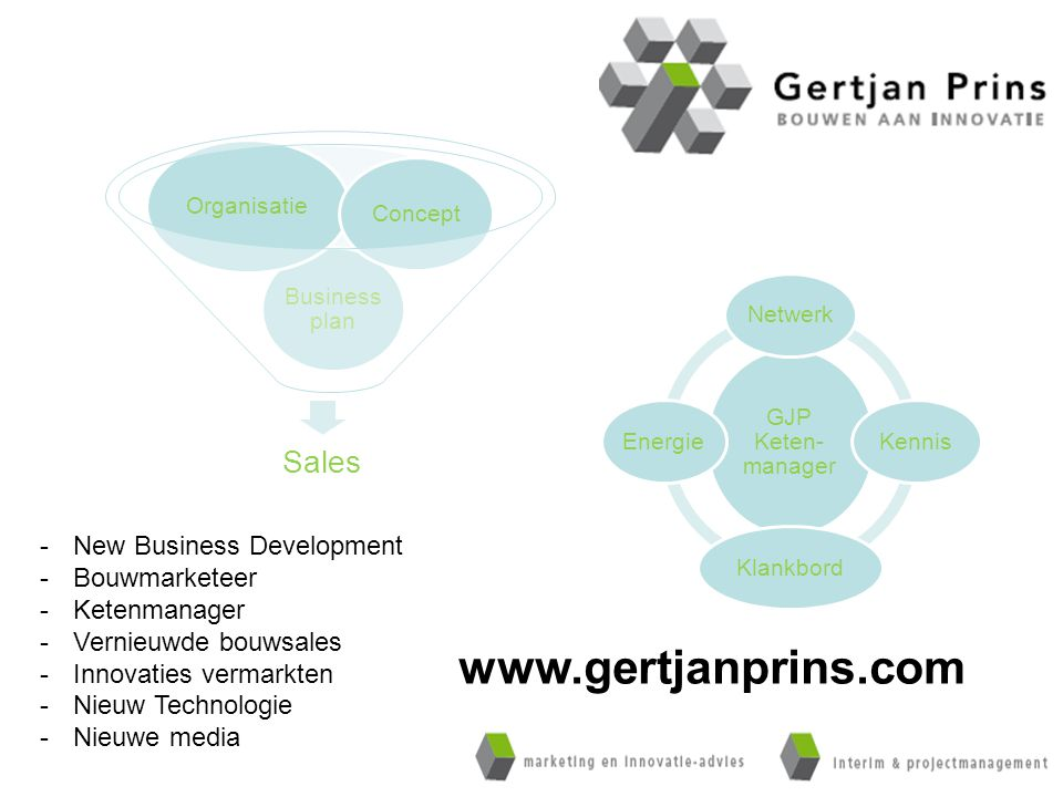 www.gertjanprins.com Sales New Business Development Bouwmarketeer