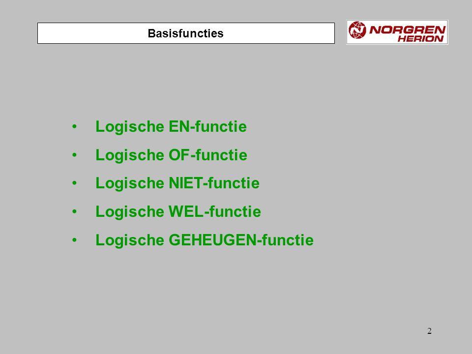 Logische NIET-functie Logische WEL-functie Logische GEHEUGEN-functie