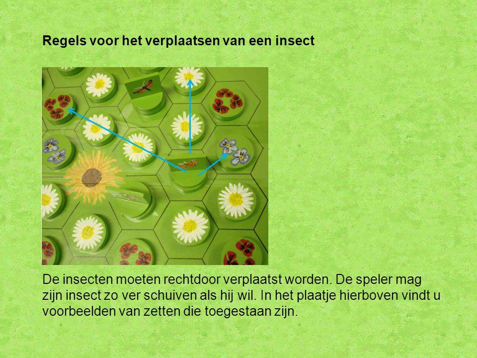 Regels voor het verplaatsen van een insect