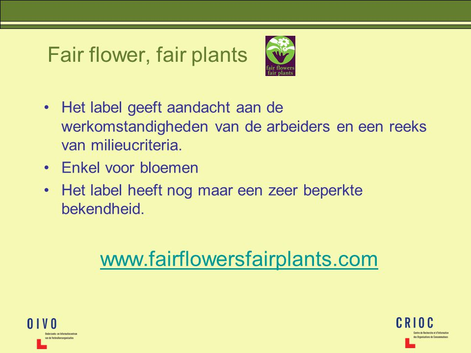 Fair flower, fair plants