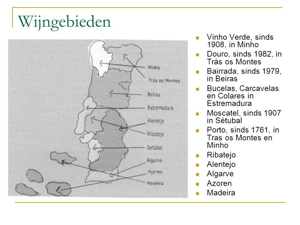 Wijngebieden Vinho Verde, sinds 1908, in Minho