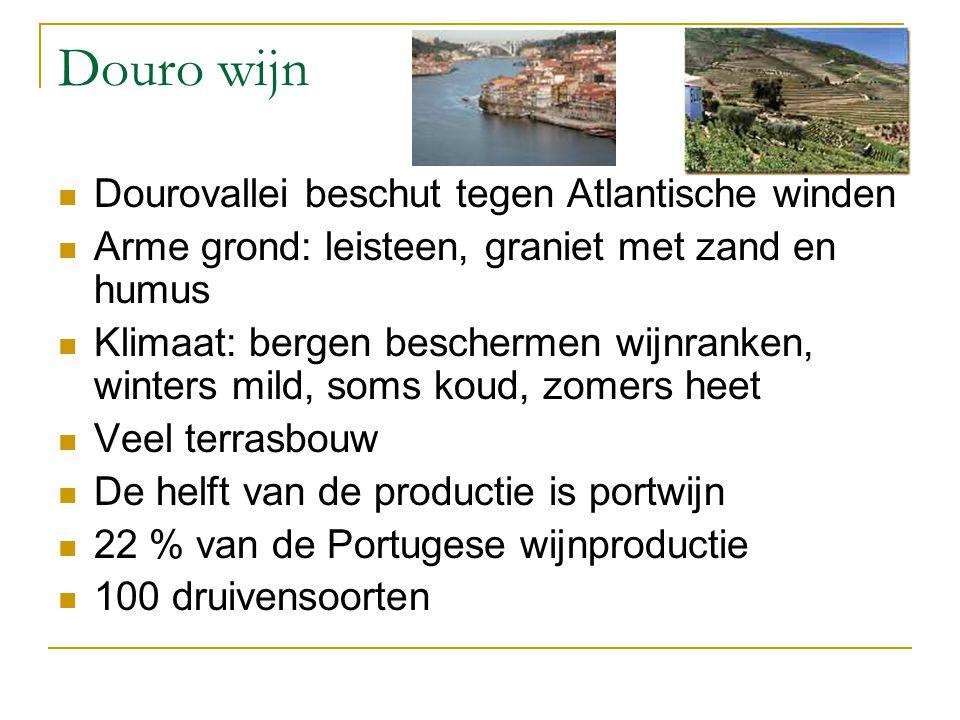 Douro wijn Dourovallei beschut tegen Atlantische winden