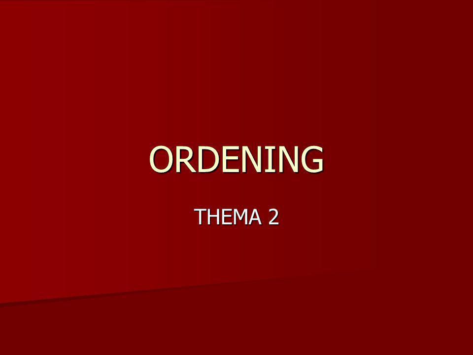 ORDENING THEMA 2