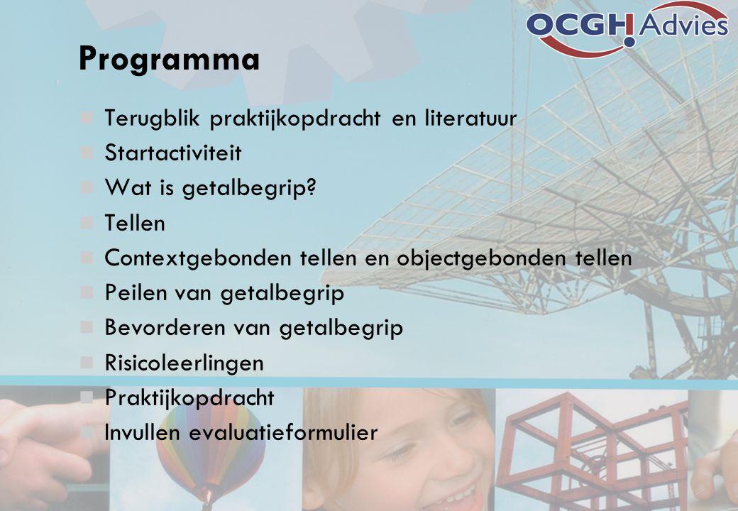Programma Terugblik praktijkopdracht en literatuur Startactiviteit