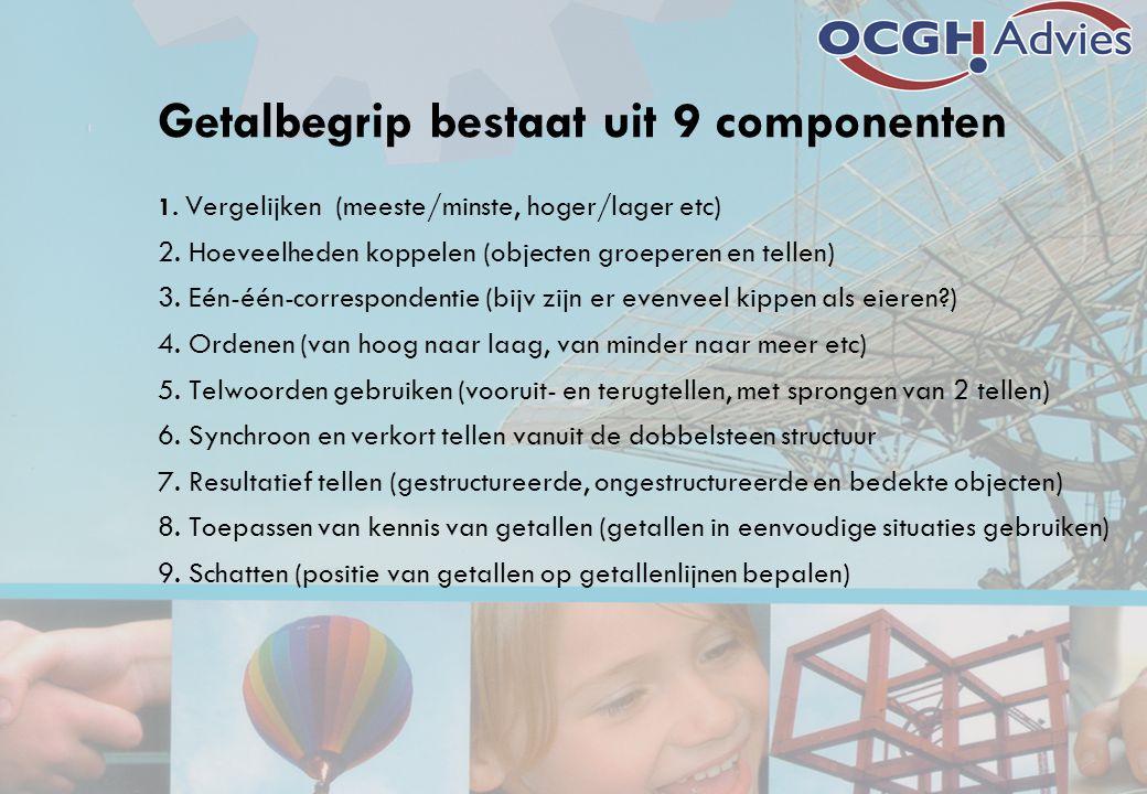 Getalbegrip bestaat uit 9 componenten