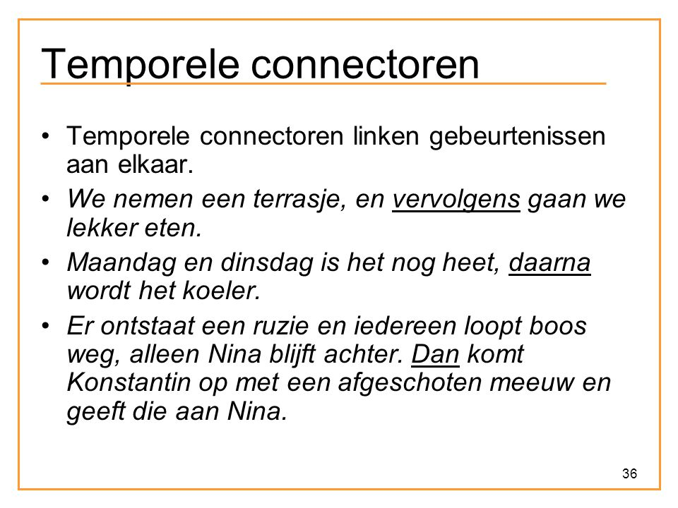 Temporele connectoren