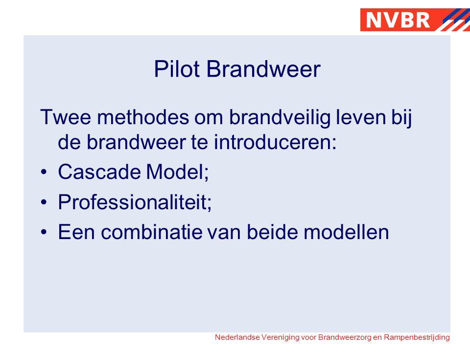Pilot Brandweer Twee methodes om brandveilig leven bij de brandweer te introduceren: Cascade Model;