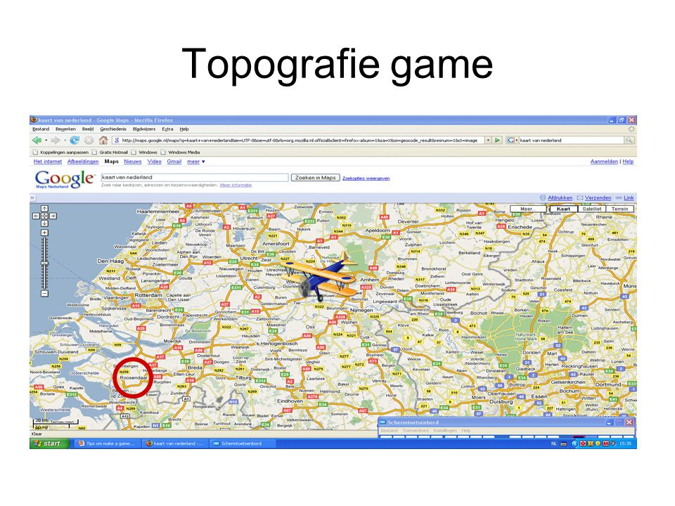 Topografie game