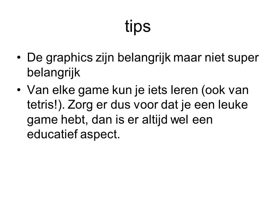 tips De graphics zijn belangrijk maar niet super belangrijk