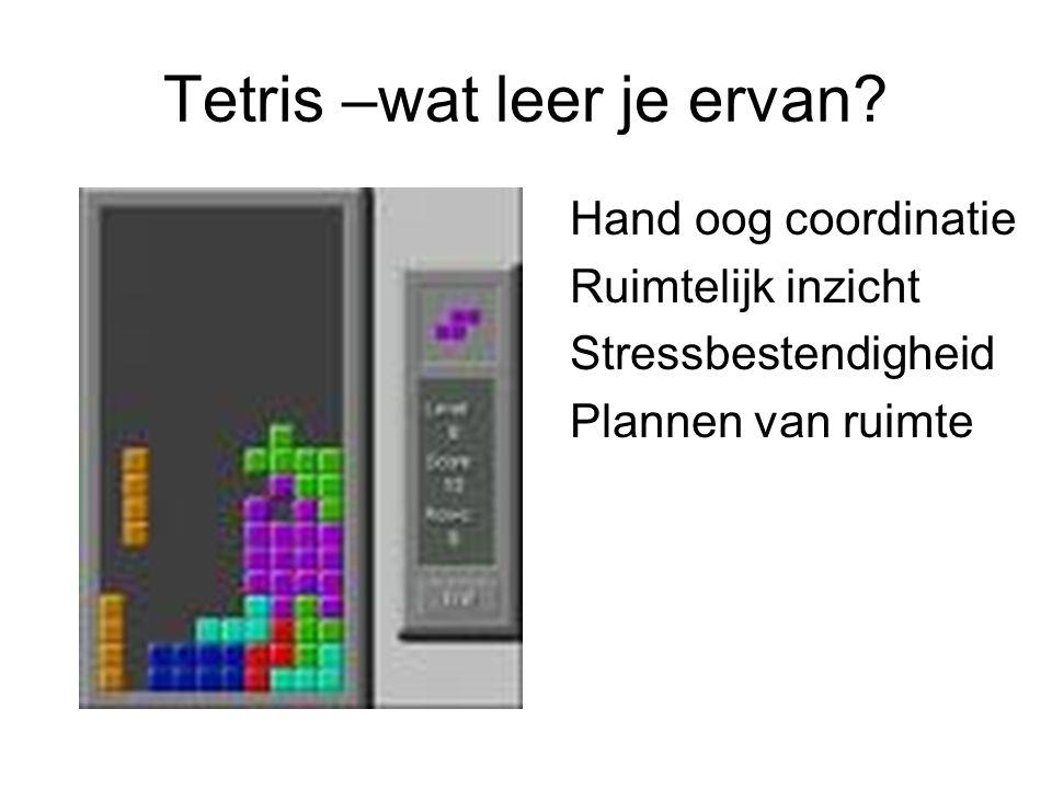 Tetris –wat leer je ervan