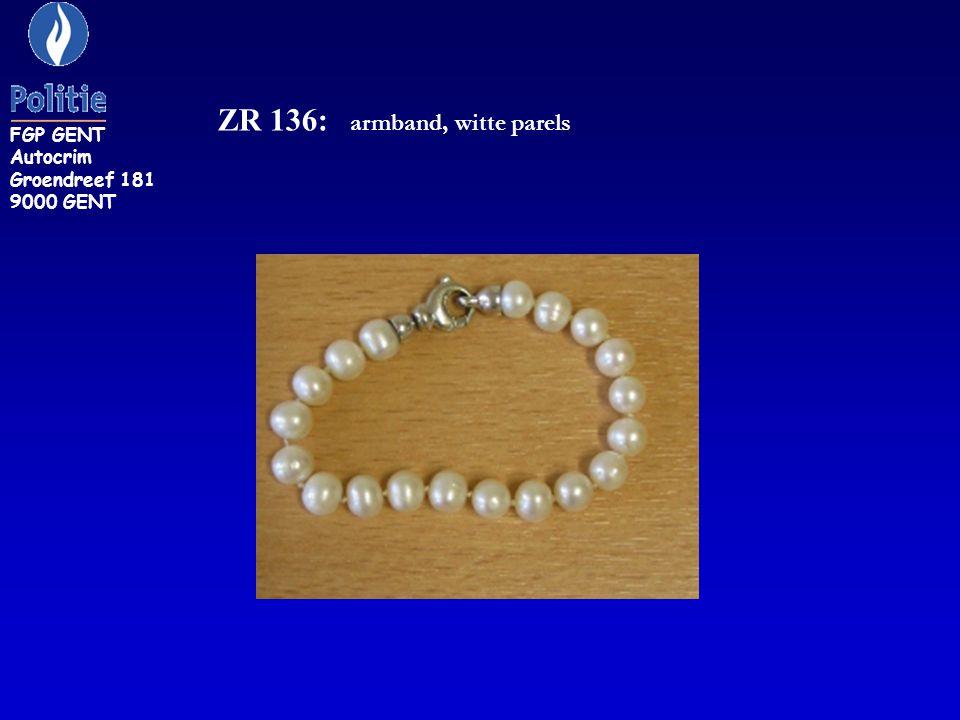 ZR 136: armband, witte parels