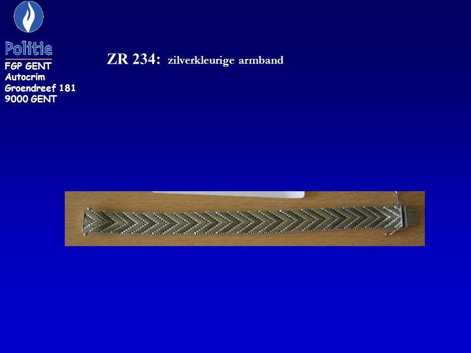 ZR 234: zilverkleurige armband