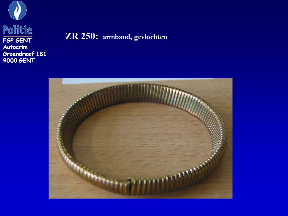 ZR 250: armband, gevlochten