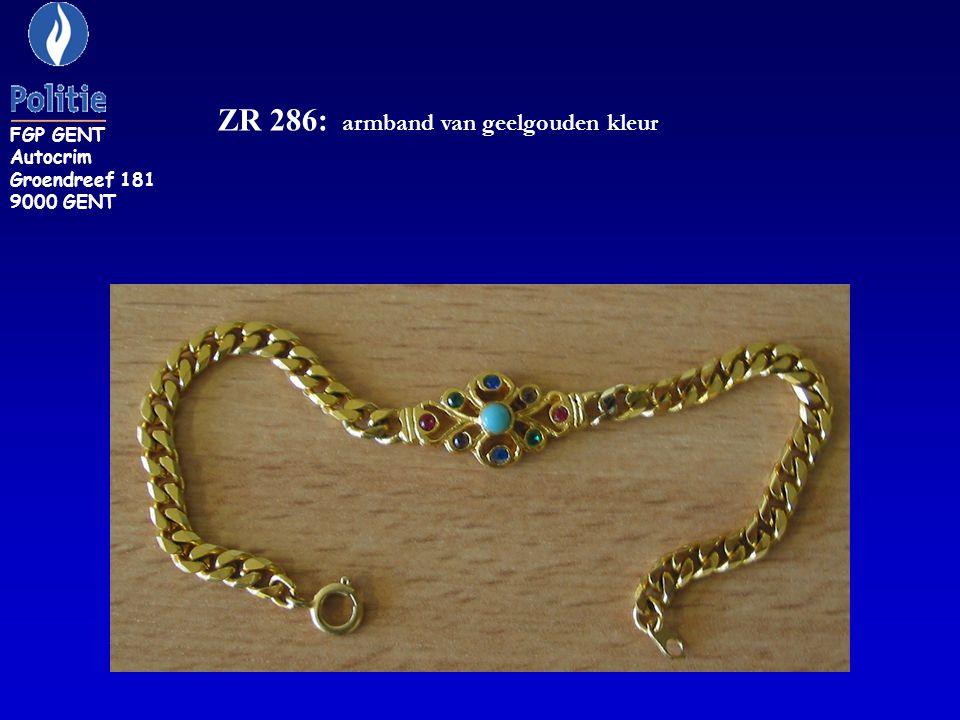 ZR 286: armband van geelgouden kleur