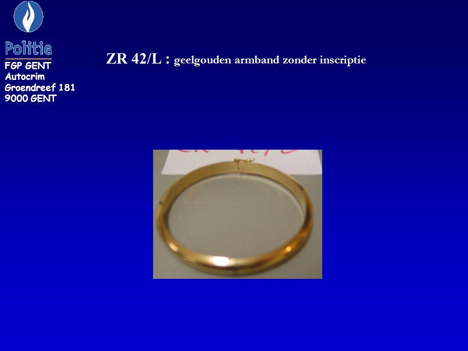 ZR 42/L : geelgouden armband zonder inscriptie