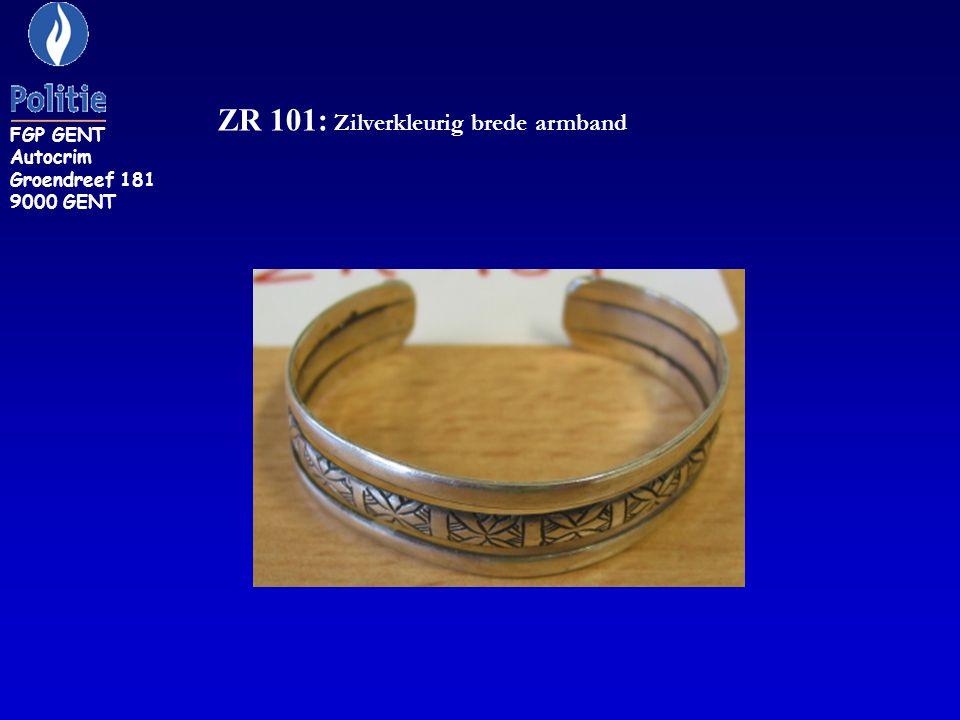 ZR 101: Zilverkleurig brede armband