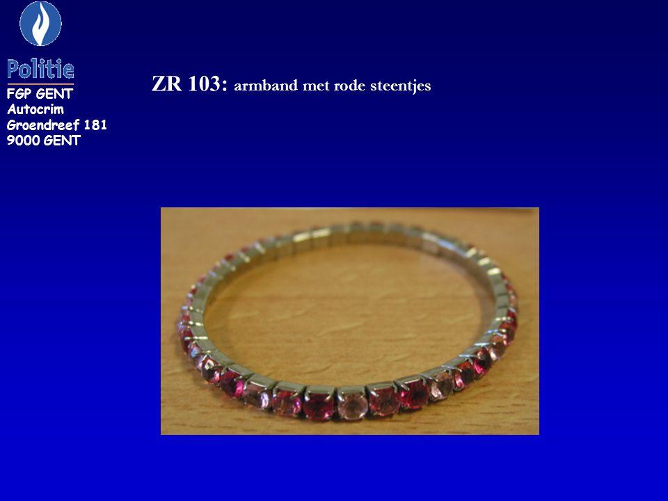 ZR 103: armband met rode steentjes