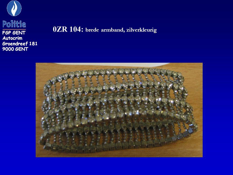 0ZR 104: brede armband, zilverkleurig