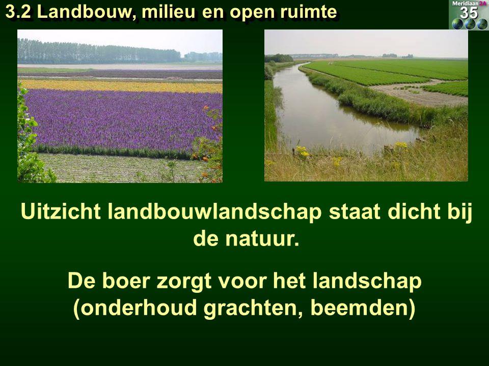 Uitzicht landbouwlandschap staat dicht bij de natuur.