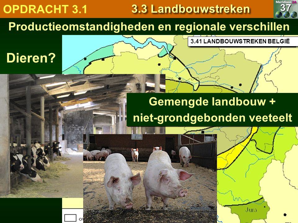 Dieren OPDRACHT 3.1 3.3 Landbouwstreken