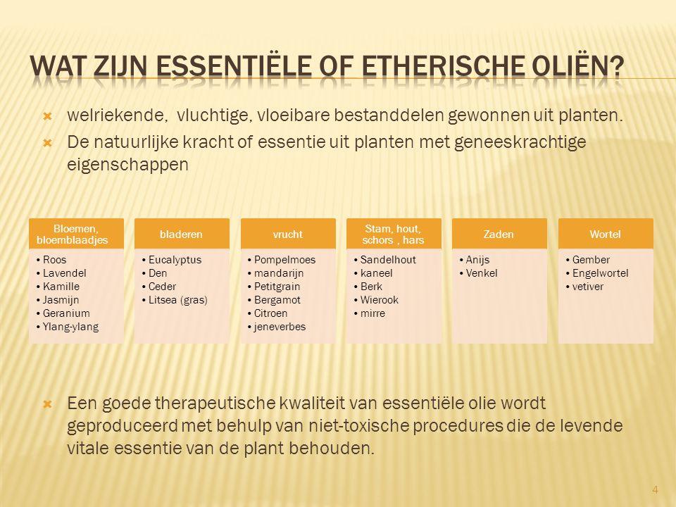 Wat zijn Essentiële of etherische oliën