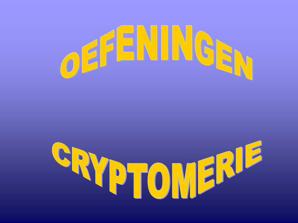 OEFENINGEN CRYPTOMERIE