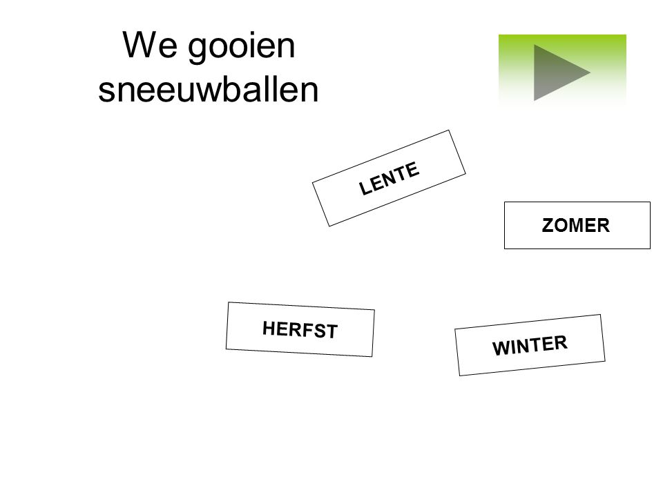 We gooien sneeuwballen