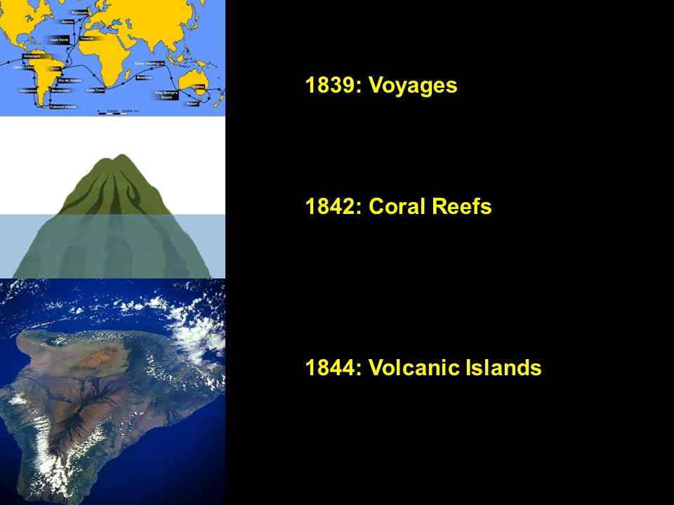 1839: Voyages 1842: Coral Reefs 1844: Volcanic Islands
