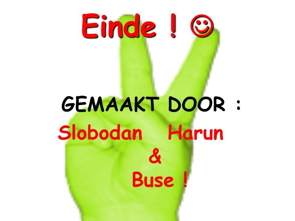 Einde !  GEMAAKT DOOR : Slobodan Harun & Buse !