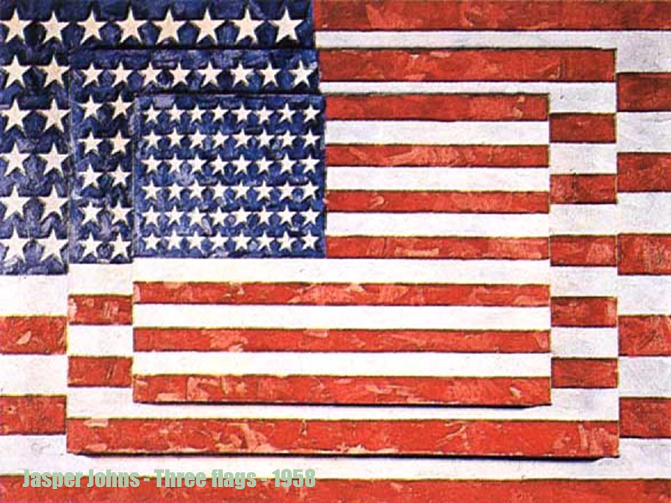 Jasper Johns - Three flags - 1958