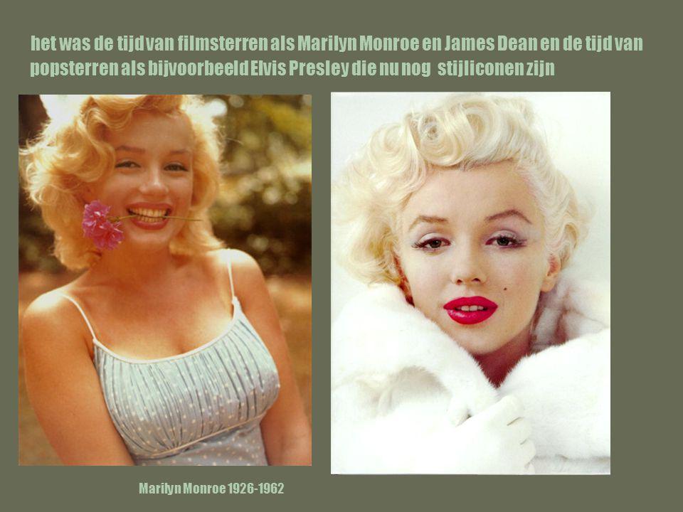 het was de tijd van filmsterren als Marilyn Monroe en James Dean en de tijd van popsterren als bijvoorbeeld Elvis Presley die nu nog stijliconen zijn