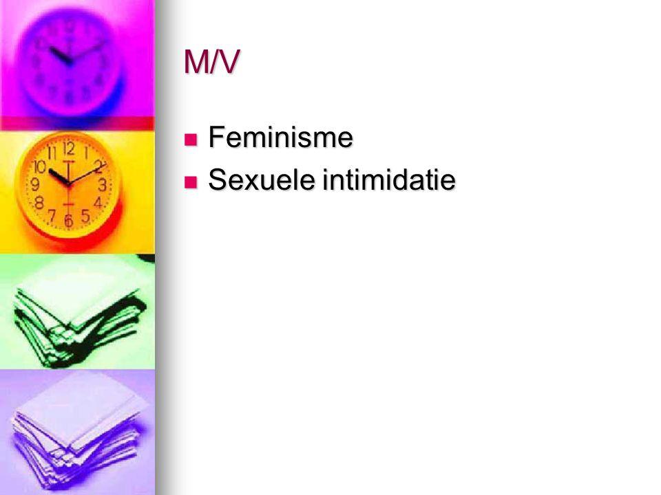 M/V Feminisme Sexuele intimidatie