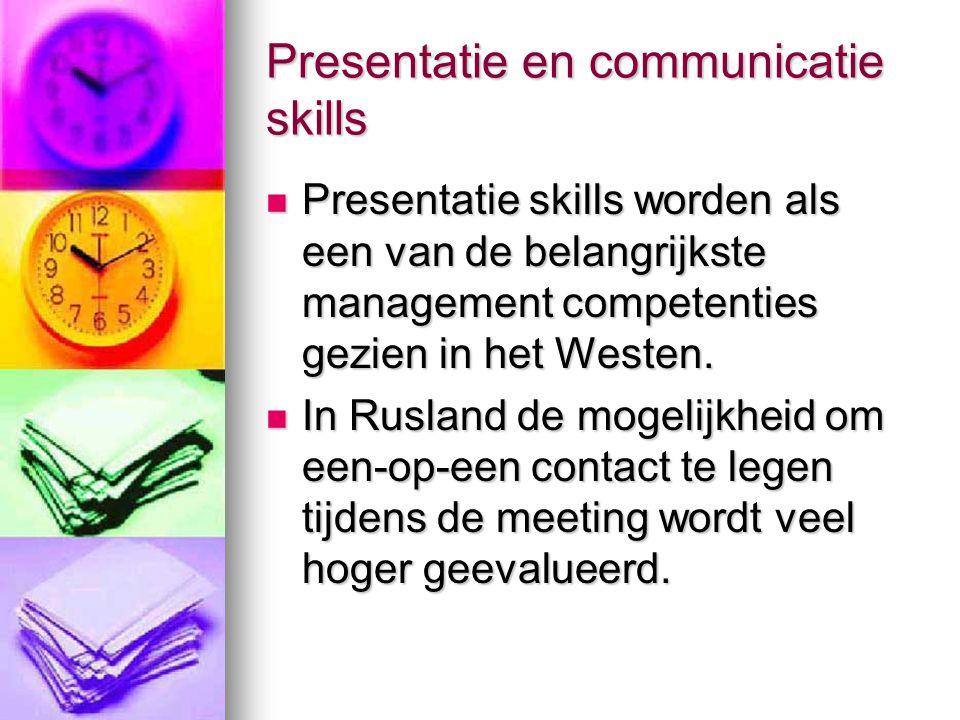 Presentatie en communicatie skills